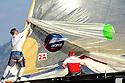 Louis Vuitton Trophy La Maddalena 4 giugno 2010. I prodieri di Artemis in manovra durante l'issata dello spi durante la semifinale con Emirates Team New Zealand