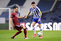 30th April 2021; Dragao Stadium, Porto, Portugal; Portuguese Championship 2020/2021, FC Porto versus Famalicao; Mateus Uribe of FC Porto beats Pêpê Rodrigues of Famalicao