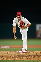 Palm Beach Cardinals relief pitcher Junior Fernandez (23) during a Florida State League game against the Daytona Tortugas on April 11, 2019 at Roger Dean Stadium in Jupiter, Florida.  Palm Beach defeated Daytona 6-0.  (Mike Janes/Four Seam Images)