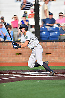 Pulaski Yankees first baseman Max Burt (17) swings at a pitch during a game against the Johnson City Cardinals at TVA Credit Union Ballpark on July 7, 2018 in Johnson City, Tennessee. The Cardinals defeated the Yankees 7-3. (Tony Farlow/Four Seam Images)