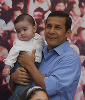 Ollanta Humala with his son Samin. Lima, Peru, Sunday, June 5, 2011.