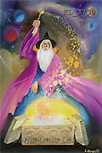 Interlitho, Luis, FANTASY, paintings, magician, universe, KL, KL3739,#fantasy# illustrations, pinturas