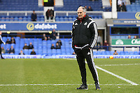 Swansea City Head Coach Francesco Guidolin pictured during the pre match warm up ahead of the  during the Barclays Premier League match between Everton and Swansea City played at Goodison Park, Liverpool