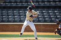 Jonathan Pryor (11) of the Wake Forest Demon Deacons at bat against the Pitt Panthers at David F. Couch Ballpark on May 20, 2017 in Winston-Salem, North Carolina. The Demon Deacons defeated the Panthers 14-4.  (Brian Westerholt/Four Seam Images)