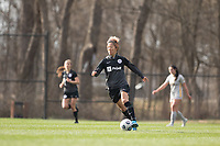 LOUISVILLE, KY - MARCH 13: Yuki Nagasato #17 of Racing Louisville FC moves the ball up the field during a game between West Virginia University and Racing Louisville FC at Thurman Hutchins Park on March 13, 2021 in Louisville, Kentucky.
