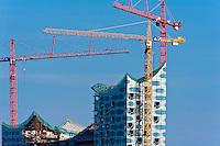 Baustelle der Elbphilharmonie (Entwurf: Herzog & de Meuron), Hamburg,  Deutschland