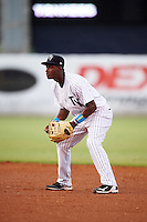 Tampa Yankees second baseman Jorge Mateo (14) during a game against the Daytona Tortugas on August 5, 2016 at George M. Steinbrenner Field in Tampa, Florida.  Tampa defeated Daytona 7-1.  (Mike Janes/Four Seam Images)