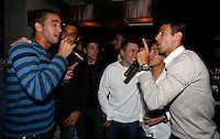 "Viktor Troicki, Novak Djokovic, Players Party, Novak restaurant, ATP 250 series tennis tournament ""Serbia Open"" in Belgrade, Serbia, Tuesday, April 26. 2011. (photo: Pedja Milosavljevic / SIPA PRESS)"