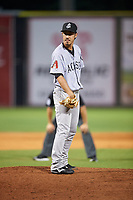 Jackson Generals relief pitcher Yuhei Nakaushiro (43) looks in for the sign during a game against the Chattanooga Lookouts on May 9, 2018 at AT&T Field in Chattanooga, Tennessee.  Chattanooga defeated Jackson 4-2.  (Mike Janes/Four Seam Images)