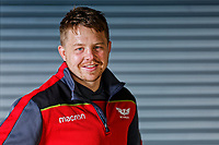 Scarlets player James Davies at Parc Y Scarlets Stadium in Llanelli, Wales, UK. Tuesday 17 April 2018