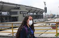 BOGOTÁ - COLOMBIA, 13-03-2020:La Dimayor suspendió de manera temporal el fútbol profesional colombiano por la pandemia del Coronavirus.Al Fondo el estadio Nemesio Camacho El Campín de Bogotá / <br /> <br /> Dimayor temporarily suspended Colombian professional soccer due to the Coronavirus pandemic. General view of the Nemesio Camacho El Campín stadium in Bogotá. Photo: VizzorImage / Felipe Caicedo / Staff