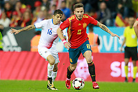 Spain's Saul Niguez (r) and Costa Rica's Cristian Gamboa during international friendly match. November 11,2017.(ALTERPHOTOS/Acero) /NortePhoto.com