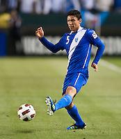 CARSON, CA – June 6, 2011: Guatemalan Carlos Gallardo (5) during the match between Guatemala and Honduras at the Home Depot Center in Carson, California. Final score Guatemala 0, Honduras 0.