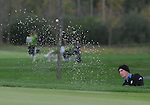 4 October 2008: Charles Howell III blasts from a greenside bunker during the third round at the Turning Stone Golf Championship in Verona, New York.