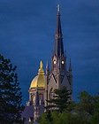 May 22, 2020; Dome and Basilica Steeple (Photo by Matt Cashore/University of Notre Dame)