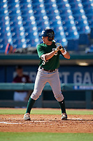 Dorian Gonzalez (5) of Belen Jesuit Preparatory School in Miami, FL during the Perfect Game National Showcase at Hoover Metropolitan Stadium on June 19, 2020 in Hoover, Alabama. (Mike Janes/Four Seam Images)
