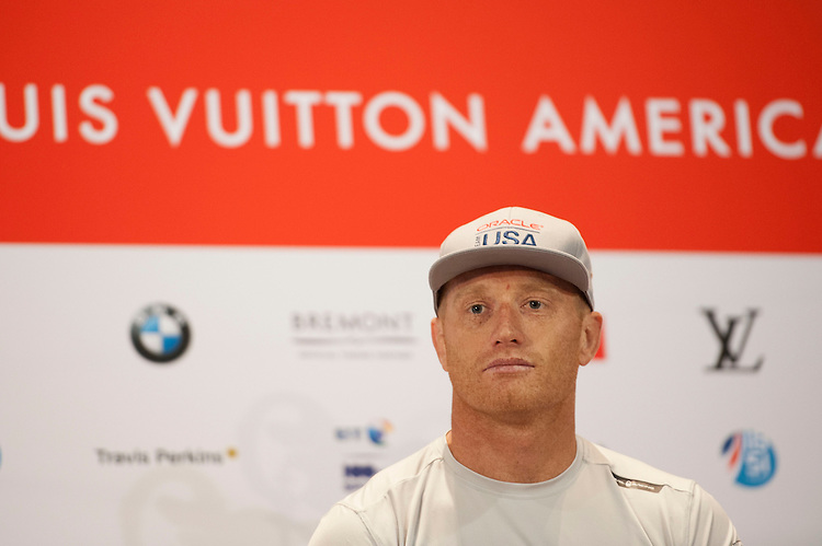Jimmy Spithill, JULY 21, 2016 - Sailing: Jimmy Spithill, skipper Oracle Team USA during the Louis Vuitton America's Cup World Series press conference, Portsmouth, United Kingdom. (Photo by Rob Munro/Stewart Communications)
