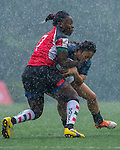 Argentina vs Kenya during the Day 1 of the IRB Women's Sevens Qualifier 2014 at the Skek Kip Mei Stadium on September 12, 2014 in Hong Kong, China. Photo by Aitor Alcalde / Power Sport Images