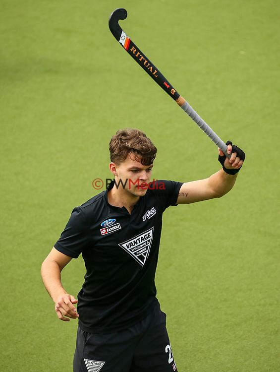Dominic Newman. International Hockey, Blacksticks men v Canada. Lloyd Elsmore Park, Auckland, New Zealand. Saturday 20 October 2018. Photo: Simon Watts/Hockey NZ