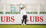 Dou Zecheng of China tees off the first hole during the 58th UBS Hong Kong Open as part of the European Tour on 08 December 2016, at the Hong Kong Golf Club, Fanling, Hong Kong, China. Photo by Marcio Rodrigo Machado / Power Sport Images