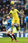 Rangers v St Johnstone…16.12.17…  Ibrox…  SPFL<br />Richie Foster gets above Josh Windass<br />Picture by Graeme Hart. <br />Copyright Perthshire Picture Agency<br />Tel: 01738 623350  Mobile: 07990 594431