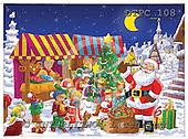 Eberle, Comics, CHRISTMAS SANTA, SNOWMAN, paintings, DTPC108,#X# Weihnachten, Navidad, illustrations, pinturas