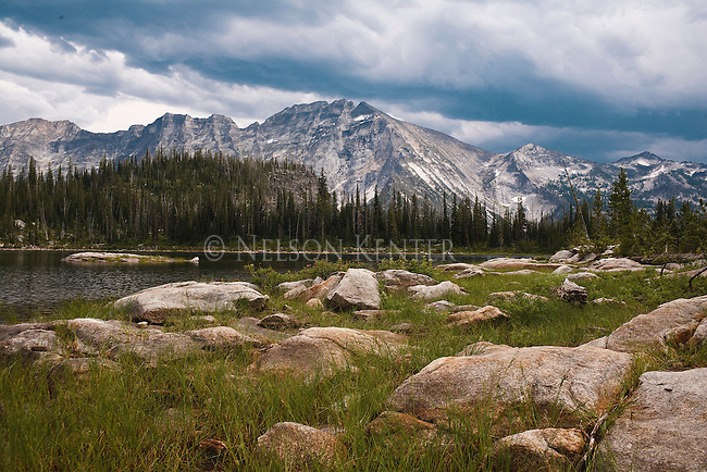 Kerlee Lake in the Bitterroot Mountains on the trail to ElCapitan Peak