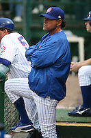 April 16, 2009:  Pitching Coach Tom Pratt of the Daytona Cubs, Florida State League Class-A affiliate of the Chicago Cubs, during a game at Jackie Robinson Stadium in Daytona Beach, FL.  Photo by:  Mike Janes/Four Seam Images