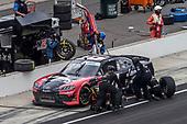 #61: Stephen Leicht, Hattori Racing Enterprises, Toyota Supra JANIKING pit stop