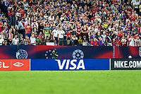 NASHVILLE, TN - SEPTEMBER 5: Visa signage during a game between Canada and USMNT at Nissan Stadium on September 5, 2021 in Nashville, Tennessee.