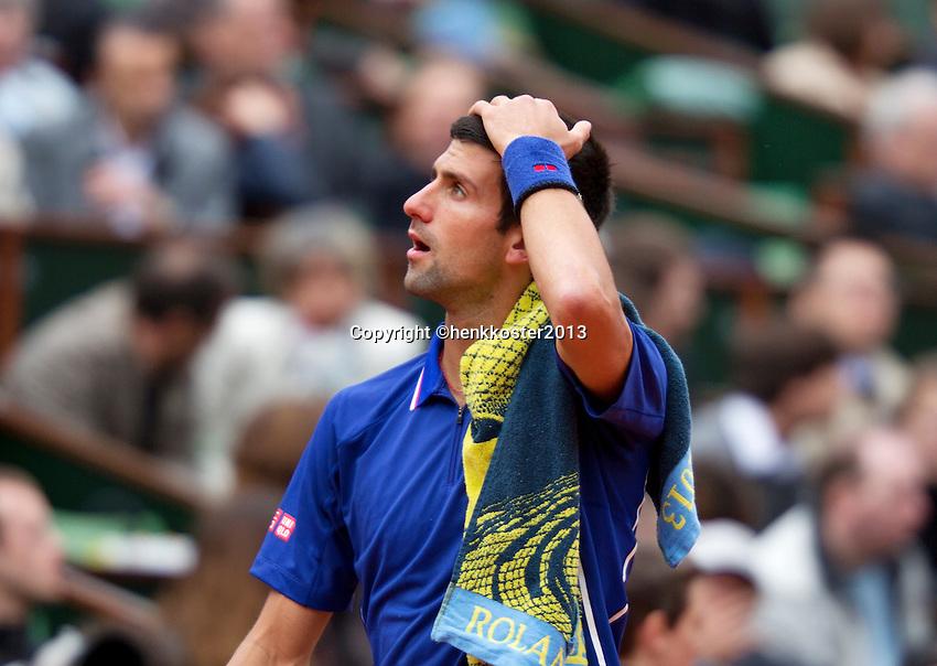 30-05-13, Tennis, France, Paris, Roland Garros,  Novak Djokovic