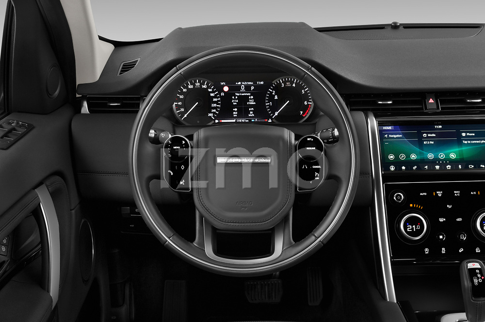Car pictures of steering wheel view of a 2020 Land Rover Discovery Sport S 5 Door SUV
