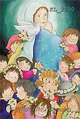 Interlitho, Soledad, CHRISTMAS CHILDREN, naive, paintings, Madonna, dove, kids(KL2290,#XK#) Weihnachten, Navidad, illustrations, pinturas
