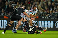 8th October 2021;  Swansea.com Stadium, Swansea, Wales; United Rugby Championship, Ospreys versus Sharks; Thomas du Toit of Cell C Sharks is tackled by Alun Wyn Jones of Ospreys