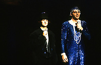 July 1993 file photo - Montreal Qc) CANADA - Festival Juste Pour Rire : Marie-Lise Pilote (L), Patrick Huard, in drag (R)