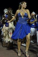 SÃO PAULO, SP, 29 DE JANEIRO DE 2012 - ENSAIO TÉCNICO IMPÉRIO DE CASA VERDE - Livia Andrade durante ensaio técnico da Escola de Samba Império de Casa Verde na preparação para o Carnaval 2012. O ensaio foi realizado neste domingo 29 no Sambódromo do Anhembi, zona norte da cidade. FOTO LEVI BIANCO - NEWS FREE