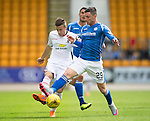 St Johnstone v Inverness Caley Thistle...08.08.15...SPFL..McDiarmid Park, Perth.<br /> Michael O'Halloran and Liam Polworth<br /> Picture by Graeme Hart.<br /> Copyright Perthshire Picture Agency<br /> Tel: 01738 623350  Mobile: 07990 594431