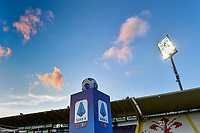 Official Serie A ball over a pedestal with Serie A logo printed is seen prior the Serie A football match between ACF Fiorentina and Udinese Calcio at Artemio Franchi stadium in Firenze (Italy), October 25th, 2020. Photo Andrea Staccioli / Insidefoto