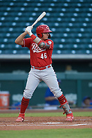 Yassel Pino (46) of the ACL Reds during a game against the ACL Cubs on September 17, 2021 at Sloan Park in Mesa, Arizona. (Tracy Proffitt/Four Seam Images)