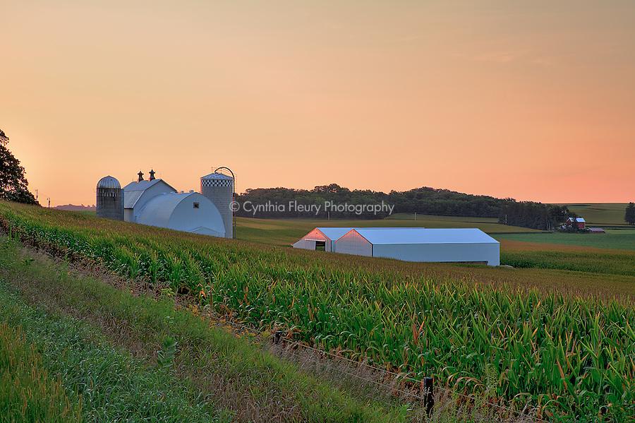 Barn in Lanesboro, Harmony Minnesota countryside.
