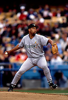 Jose Lima of the Houston Astros participates in a Major League Baseball game at Dodger Stadium during the 1998 season in Los Angeles, California. (Larry Goren/Four Seam Images)