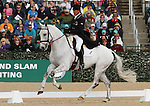 April 25, 2014: Avebury and Andrew Nicholson compete in Dressage at the Rolex Three Day Event in Lexington, KY at the Kentucky Horse Park.  Candice Chavez/ESW/CSM