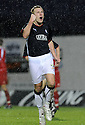 10/01/2009  Copyright Pic: James Stewart.File Name : sct_jspa36_falkirk_v_qots.SCOTT ARFIELD CELEBRATES  AFTER HE SCORES THE SECOND.James Stewart Photo Agency 19 Carronlea Drive, Falkirk. FK2 8DN      Vat Reg No. 607 6932 25.Studio      : +44 (0)1324 611191 .Mobile      : +44 (0)7721 416997.E-mail  :  jim@jspa.co.uk.If you require further information then contact Jim Stewart on any of the numbers above.........