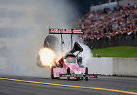 Oct. 1, 2011; Mohnton, PA, USA: NHRA top fuel dragster driver Terry McMillen drives with a stuck throttle during qualifying for the Auto Plus Nationals at Maple Grove Raceway. Mandatory Credit: Mark J. Rebilas-