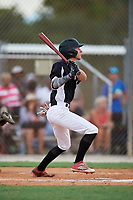 Nathan Primeau during the WWBA World Championship at the Roger Dean Complex on October 18, 2018 in Jupiter, Florida.  Nathan Primeau is an outfielder from Laval, Quebec who attends Ecole Secondaire Georges-Vanier.  (Mike Janes/Four Seam Images)