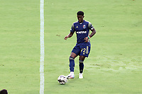 CARY, NC - AUGUST 01: Hadji Barry #92 passes the ball during a game between Birmingham Legion FC and North Carolina FC at Sahlen's Stadium at WakeMed Soccer Park on August 01, 2020 in Cary, North Carolina.