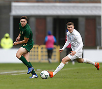 15th November 2020; Tallaght Stadium, Dublin, Leinster, Ireland; 2021 Under 21 European Championships Qualifier, Ireland Under 21 versus Iceland U21; Conor Coventry passes the ball forward  for Republic of Ireland
