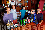 The O'Sullivan family, l to r, Darren, Mark and Fergal with Adrian and Gerard O'Sullivan in the Castle Bar on Saturday.