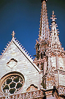 Detail of steeple, Sainte-Chapelle in Paris, France. Gothic design