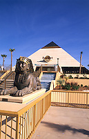 Egyptian statue and Hard Rock Cafe, Myrtle Beach, South Carolina, USA